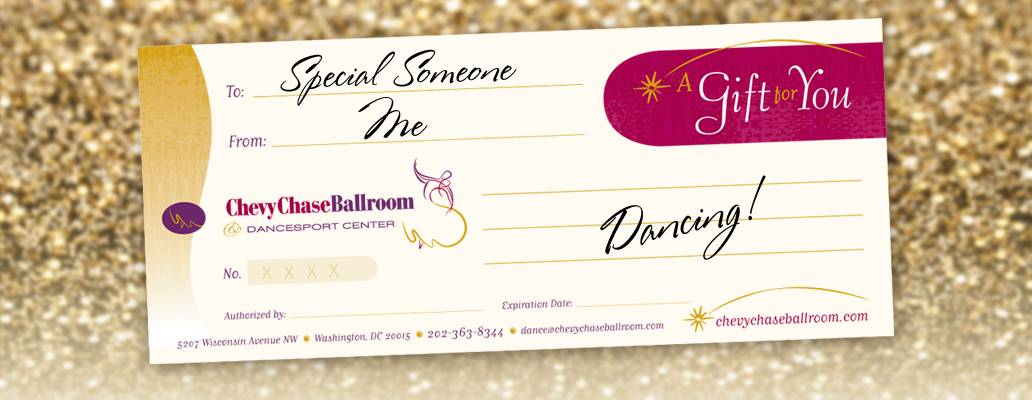 Gift Certificates for dance lessons