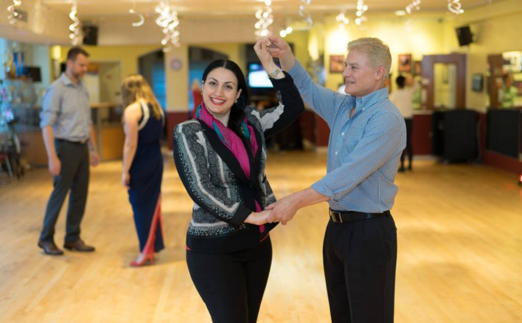 Private dance lesson at Chevy Chase Ballroom